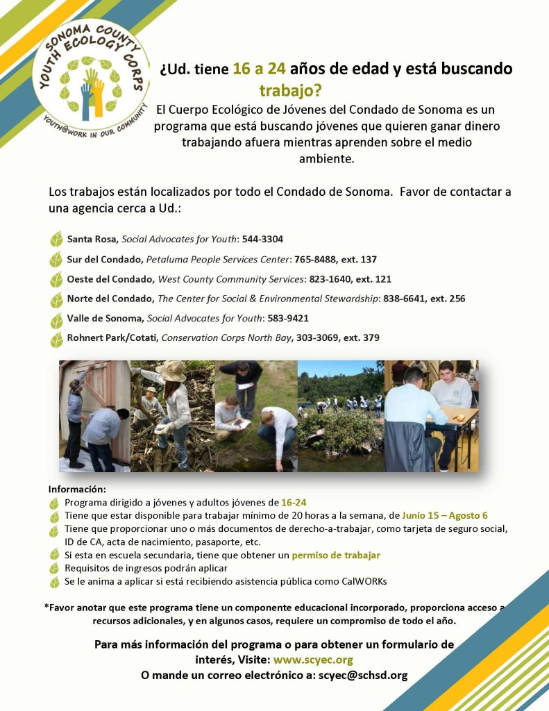 SCYEC Outreach Flyer 2015 SPANISH picture